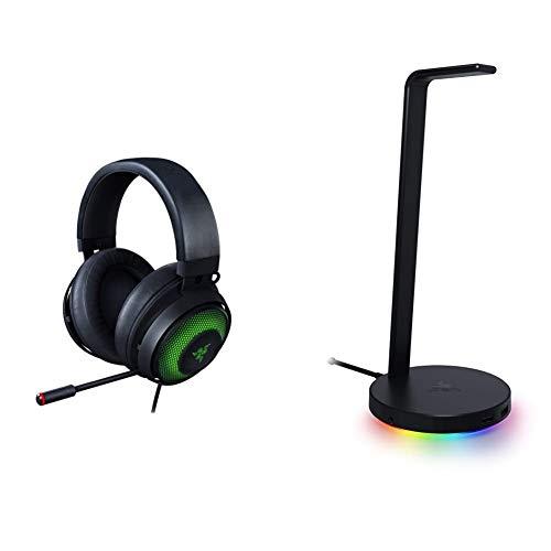 Razer Kraken Ultimate RGB USB Gaming Headset + Base Station V2 Chroma Bundle: Classic Black