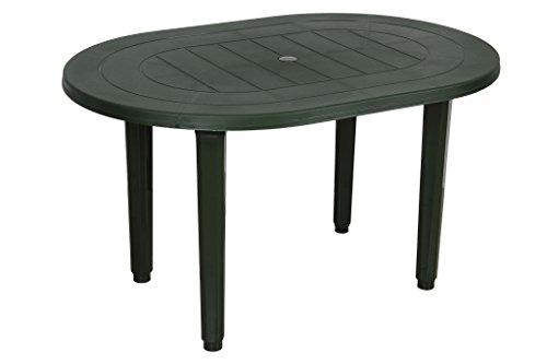 Mesa Oval Verde Oscuro