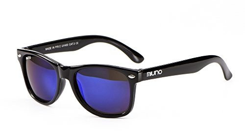 Miuno Kinder Polarisiert Sonnenbrille verspiegelt Polarized für Jungen und Mädchen Etui 6833 (Blauverspiegelt)