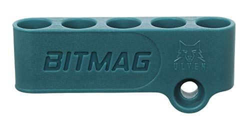 BitMag Magnetic Bit Holder for Drills and Drivers - Makita Blue - Store Your bits on Your Power Tool, Always to Hand for Fast swapping - Holds 1/4 hex bits - Plastic Composite Body