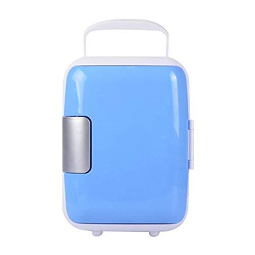 ZLININ Refrigerador de coche 4L Mini Home Car Refrigeradores de doble uso, bajo ruido, refrigerador, congelador, congelador, caja de hielo fría para preservar el calor térmico (color: azul)