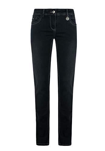 Million X Damen Jeans Victoria superstraight W42 L32, Black