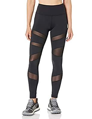 Amazon Brand - Core 10 Women's Icon Series - The Warrior Mesh Plus Size Legging, Black, 3X