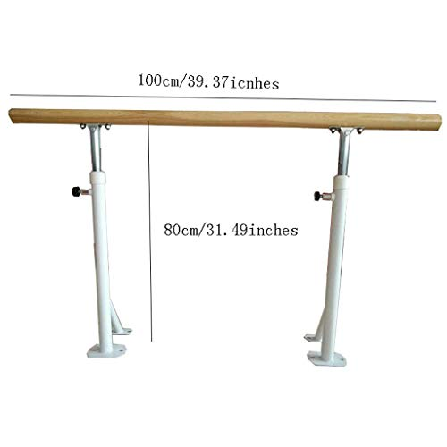 Wall Sculptures Ballet Equipment Wood Ballet Barre, Ballet Fitness Stretch Dance Bar Ballet Barre Portable for Home Adults and student, Adjustable Ballet Barre, White Double Ballet Bar