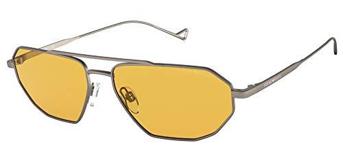 Gafas de Sol Emporio Armani EA 2113 Matte Ruthenium/Yellow 58/15/140 hombre