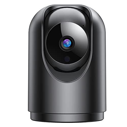 FHD 1296P Telecamera Wi-Fi Interno,Videocamera Sorveglianza Interno WIFI con Super Visione Notturna / Audio Bidirezionale / Motion tracking / Allarme APP/Rotazione a 355°