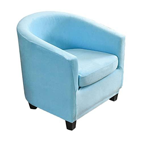 NUELLO Sesselhusse Stretch Cocktailsessel Hussen, 2 Stück Samt Sesselschoner Couch Überwurf Sesselbezug Sesselüberwurf elastisch Sessel Überzug für Cafe Loungesessel-L