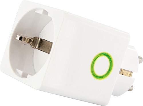 SCHWAIGER -ZHS15- Zwischenstecker/Verbrauchsmesser/Steckdosenadapter/Stromverbrauch Anzeige über LEDs/Zigbee/Smart Home/Steuerung per App/Sprachsteuerung mit Alexa, Google