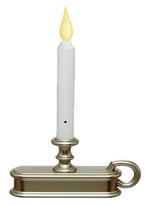 Xodus FPC1225P Christmas LED Candle, Battery-Operated, Pewter - Quantity 6