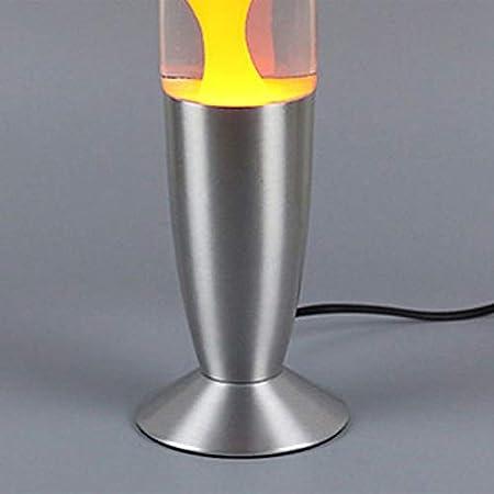 Nette Metallbasis Lava Lampe Wachs Vulkan Stil Nachtlicht Quallen Nachtlicht Orange Farbe EU