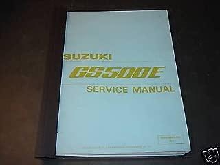 1990 SUZUKI MOTORCYCLE GS500E SERVICE MANUAL