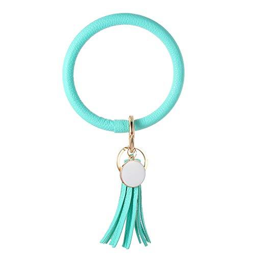 Skxinn Schlüsselanhänger Handgemachte Quasten Schlüsselbund Eleganter Anhänger für ihre Schlüssel aus Metall/Kunstleder (PU) Schlüsselbund (1Pcs)