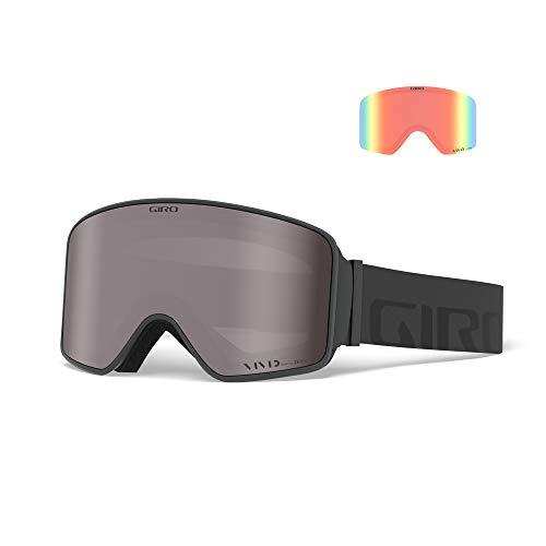 Giro Snow Unisex– Erwachsene Method Skibrille, Grey Wordmark Vivid Onyx/Vivid Infrared, Einheitsgröße