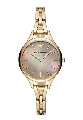 Emporio Armani Damen Analog Quarz Uhr mit Edelstahl Armband AR11140