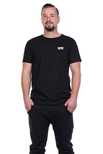 Spreeklamotte Berlin Männer T-Shirt - ICKE - Berliner Sprüche Statement Herren Shirt vom Label Cooles Männershirt - schwarz M