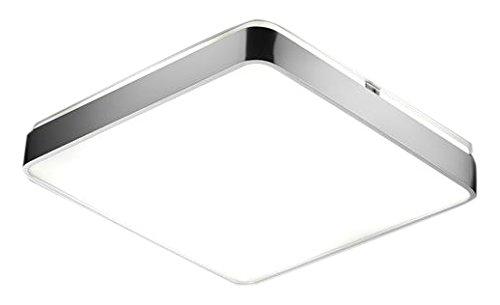 Pujol Iluminación Arcos-Plafon de Techo, 2 x 24 W, 40 x 40 cm, difusor policarbonato, Acabado niquel
