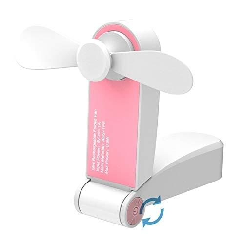 Ventilatori Portatili Ventilatori elettrici C28 USB del Mini Portable Tasca Ventaglio Pieghevole (Rosa) [ZRX] (Color : Green)