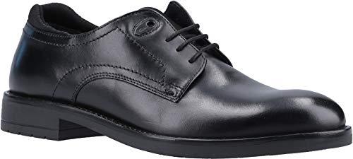 Base London Osprey Waxy Black Mens Leather Derby Shoes