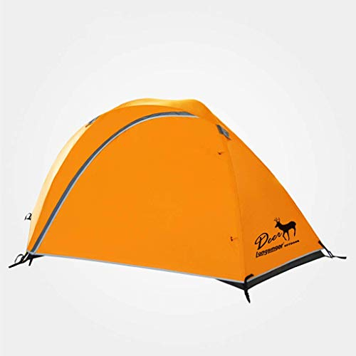 FFF8 Tent Outdoor Double Double Rainstorm Blizzard Ultralight Wearable Outdoor Camping Tent Aluminum Rod Camping Mountaineering Tent (Size : 225 * 203 * 107cm)