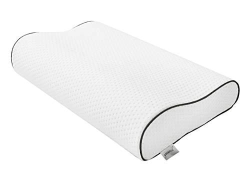Yearol  A1 Almohada Cervical viscoelástica. Diseño ortopédico para Evitar el Dolor de Cuello y Hombros. Ayuda a Dormir con sueño Profundo. Relleno de Espuma con Memoria. 50cm.