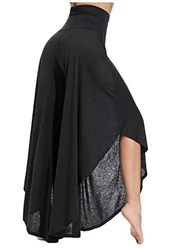 FITTOO Pantalones De Yoga Sueltos Cintura Alta Mujer Pantalones Largos Deportivos Suaves y Cómodos 740,Negro,S