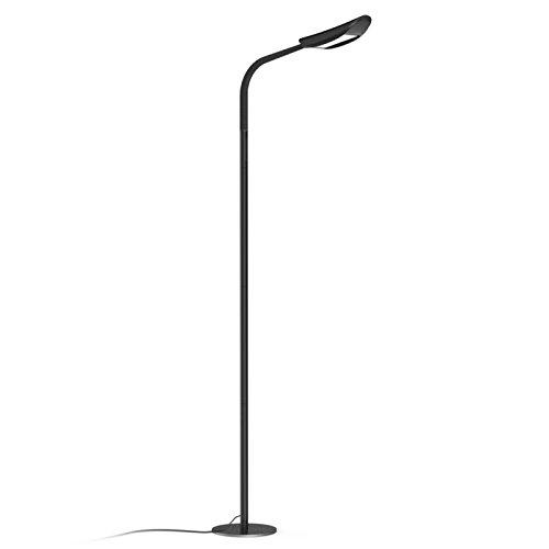 Avantica Lampada LED da terra per leggere-13W, 1600 lumens, 71 inch Altezza Regolabile, 5 Temperature di Colore(3000K-6000K), Base metallica stabile, 5 livelli dimmer (Black)