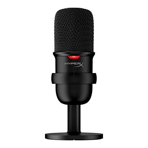HyperX SoloCast – USB-Kondensator-Gaming-Mikrofon, für PC, PS4 und Mac, Tap-to-Mute-Sensor, Kardioid Richtcharakteristik, Gaming, Streaming, Podcasts, Twitch, YouTube, Discord