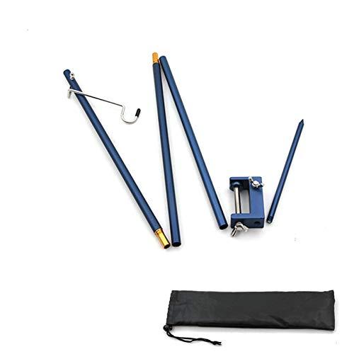Camping Lampenstange Lampenständer, Camping Tisch Klapplampenstange Tragbare leichte Aluminium Leuchte Ständer Lampe mit Tragetasche mit Pfahl Set für Picknick Wandern im Freien