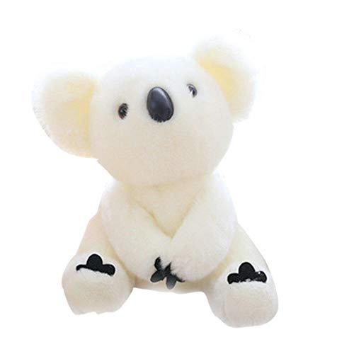 JMKHY Super Cute Koala Bear Plush Toys Adventure Koala Doll Birthday For Kids Adult-White