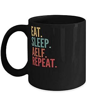 Aelf Crypto Eat Sleep Aelf Repeat Mug 11oz black
