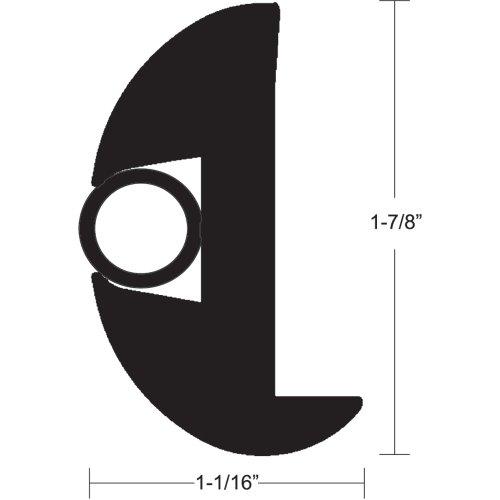 "Flexible Rub Rail Kit - 1-7/8"" x 1-1/8"" x 50', Black - TACO Marine V11-2423BBK50-2"