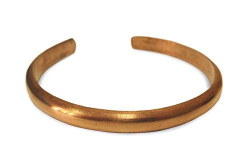 Schmuck Armreif aus Kupfer Metall glatt poliert, Metall Armband Armschmuck Armreifen handgefertigt dezent im Design