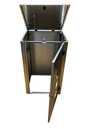 Mülltonnenbox für 3 Tonnen zu je 240 Liter - 5