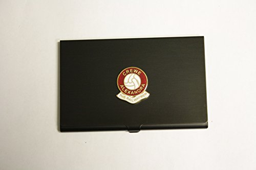 Awesome Gifts Football club black business card holder – Crewe Alexandra