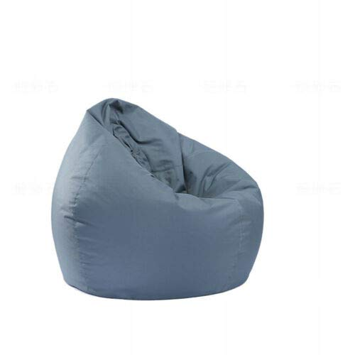 vikitim Pouf for Children and Adults, Waterproof,with Zip, Without Padding, Ideal for Game Chair and Pink Garden Chair, for Indoors and Outdoors (Grey, OneSize)
