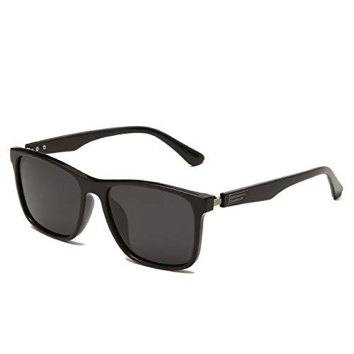 YTYASO Hombres Mujeres Gafas de Sol polarizadas cuadradas Gafas de Sol Unisex Marco de Titanio plástico UV400