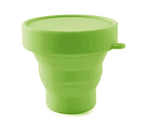 Fypxd Taza Plegable de Silicona Taza de esterilización Plegable para Tazas menstruales y Almacenamiento de su Taza Diva - Plegable (Verde)