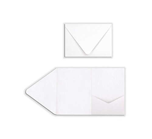 A7 Pocket Invitations (5 x 7) - 80lb. Bright White (130 Qty.)