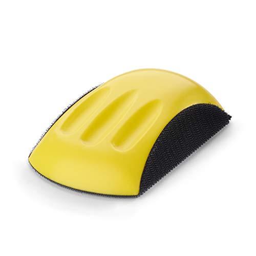 Wabrasive - Bloque de lijado de mano rectangular con cierre de velcro para discos de lijado de 125 mm adecuado para lijado con discos abrasivos
