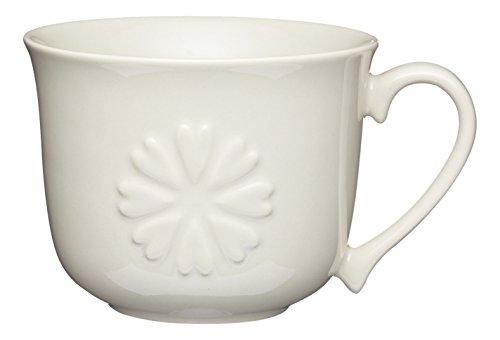Kitchen Craft KCMBFAST118 Tasse à Déjeuner Fleur, Porcelaine, Multicolore, 20 cm, 9 x 12 x 16 cm