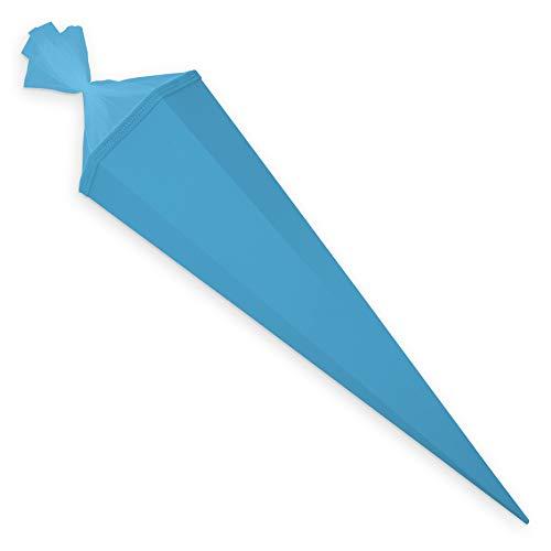 itenga Bastelschultüte 85 cm eckig Schultütenrohling mit Tüllverschluss (Pazifikblau)