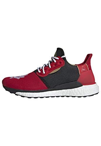 adidas CNY Solar Hu Glide x Pharrell Williams - Zapatos casuales para correr para hombre, rojo (Rojo/Negro-Oro), 40.5 EU
