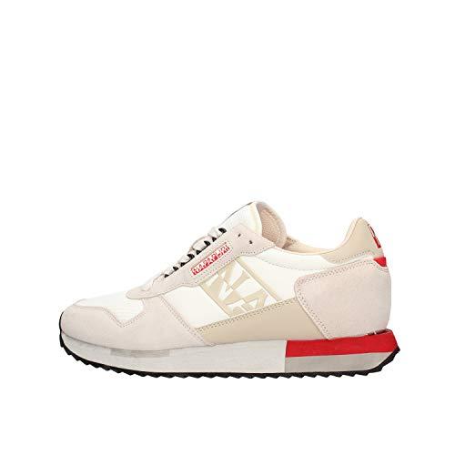 Napapijri Vicky - Zapatillas deportivas para mujer, color blanco y beige Size: 36 EU