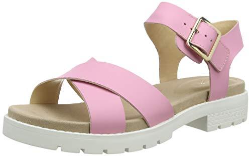 Clarks Orinoco Strap, Sandalias de Talón Abierto Mujer, Rosa (Pink Pink), 42 EU
