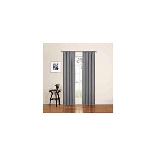 "Eclipse Phoenix Absolute Zero Window Curtain Panels, Set Of 2 74"" X 63"""