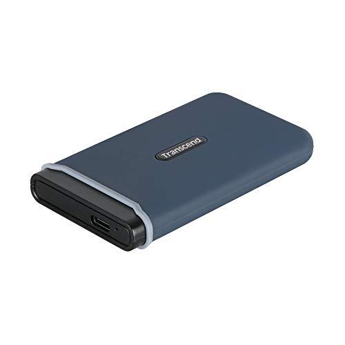 Transcend TS480GESD350C SSD Portatile, USB 3.1 Gen 2, USB Type-C, 480 GB, Blu