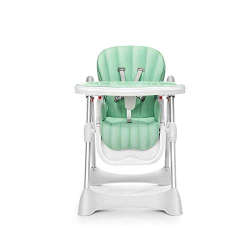 GZQDX Children's Dining Chair- High Chair for Babies Toddlers, Foldable Highchair with Multiple Adjustable Backrest, Footrest and Seat Height