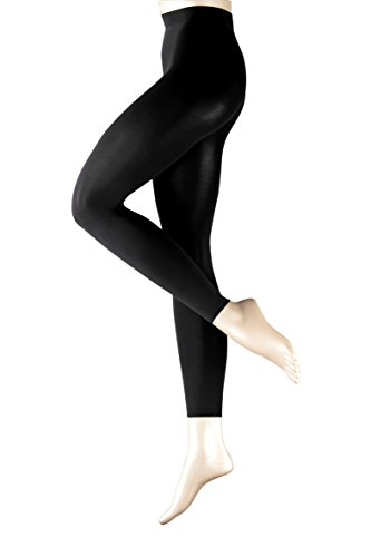 FALKE Damen Leggings 40111 Pure Matt LE 100 DEN, Schwarz 3009, M-L - 2er Pack