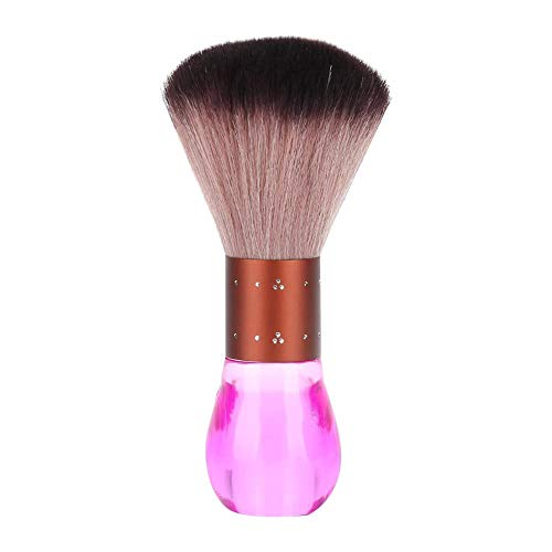 Zwindy Barber Cleaning Hairbrush, Portable Soft Fiber Hair Dust Cleaning Sweeping Brush, Soft Barber Large Neck Duster Brush(Rose)