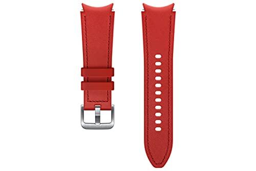 Samsung Correa de reloj híbrida de cuero - Correa de reloj oficial Samsung - 20mm - S/M - Rojo